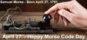 morse code day april 27